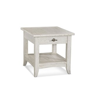 Fairwind End Table with Storage in , Polished Nickel