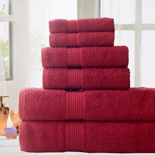 Stonington 6 Piece 100% Cotton Towel Set