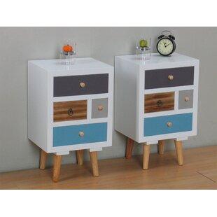 Thames Bedside Tables (Set of 2)  sc 1 st  Wayfair & Set Of 2 Bedside Tables | Wayfair.co.uk