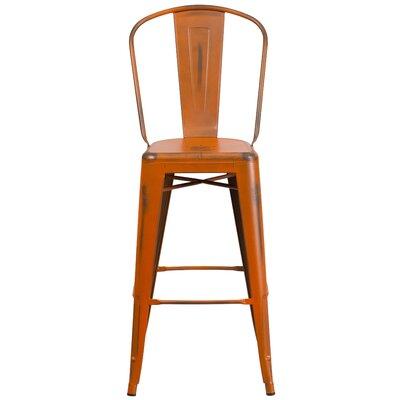 Super Trent Austin Design Cercis 30 Bar Stool Color Distressed Orange Squirreltailoven Fun Painted Chair Ideas Images Squirreltailovenorg
