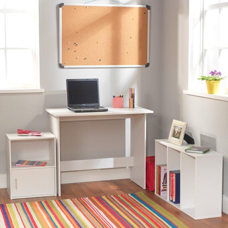 Tms Soho Kids Study Desk With Storage Cube And Bookshelf Reviews Wayfair