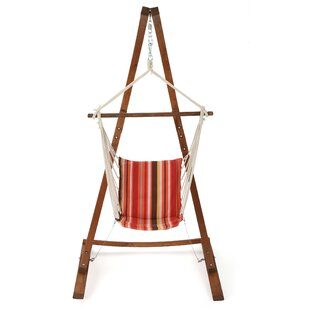 view image the teak full arc stand solid hammock