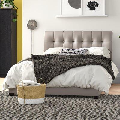 Norwalk Upholstered Standard Bed Zipcode Design? Color: Gray, Size: Twin