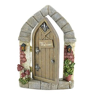 Miniature Garden Welcome Fairy Door Statue (Set of 2) by Midwest Design Imports