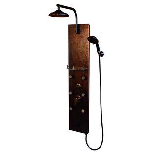 Pulse Showerspas Sedona 6-Jet Shower Panel System with GPM Rain Shower, Bodysprays, and Multi-Function Handshower with Hose - Includes Rough-In Valve