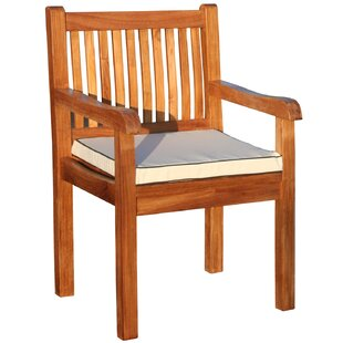 Elzas Teak Patio Dining Chair with Cushion