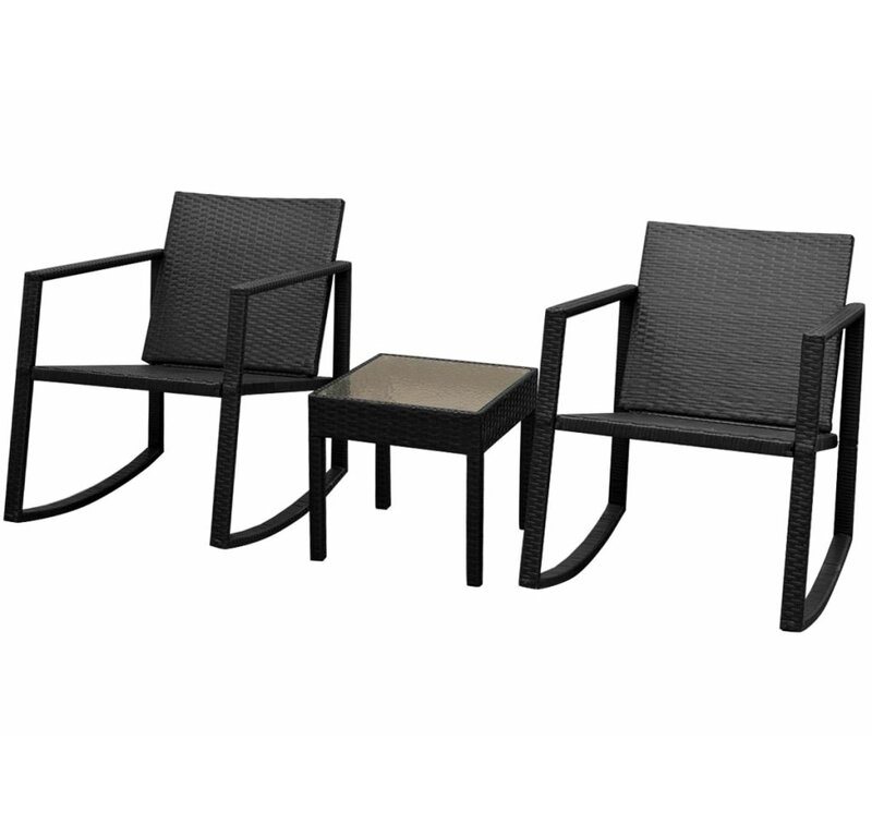 2 Sitzer Loungemöbel Set Aline Aus Polyrattan