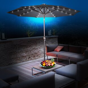 Abia 9' Lighted Umbrella by Latitude Run