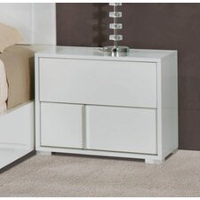 Lindell 2 Drawer Right Nightstand by Wade Logan