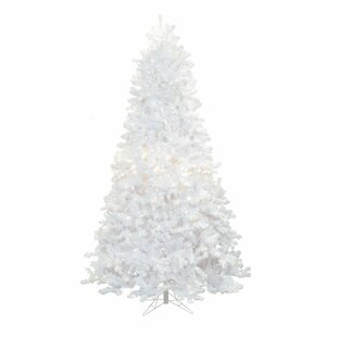 8 foot artificial christmas tree build in light crystal 9 white pine artificial christmas tree with 1100 led multicolored lights stand foot trees youll love wayfair