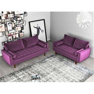 Amber 2 Piece Living Room Set by Mercer41