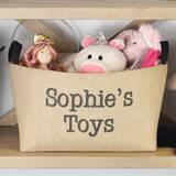 Personalized Toys X-Large Burlap Storage Bin by A Southern Bucket