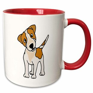 Funny Jack Russell Terrier Original Art Cartoon Coffee Mug
