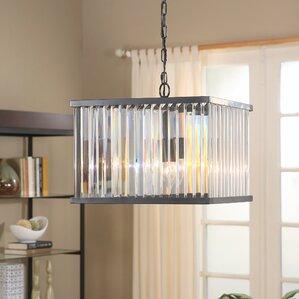 overton round 4light crystal chandelier