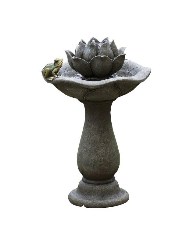 Jeco Inc Lotus Flower And Frog Tiers Water Fountain Wayfair