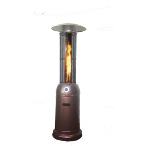 Flame Round Glass Tube 46,000 BTU Propane Patio Heater