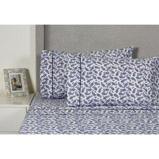Melange Home Block Paisley 400 Thread Count Cotton Sheet Set
