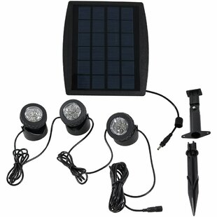 Clovis Solar Powered 3 Piece LED Pathway Light Set