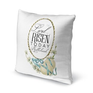 The Lord is Risen Today Throw Pillow