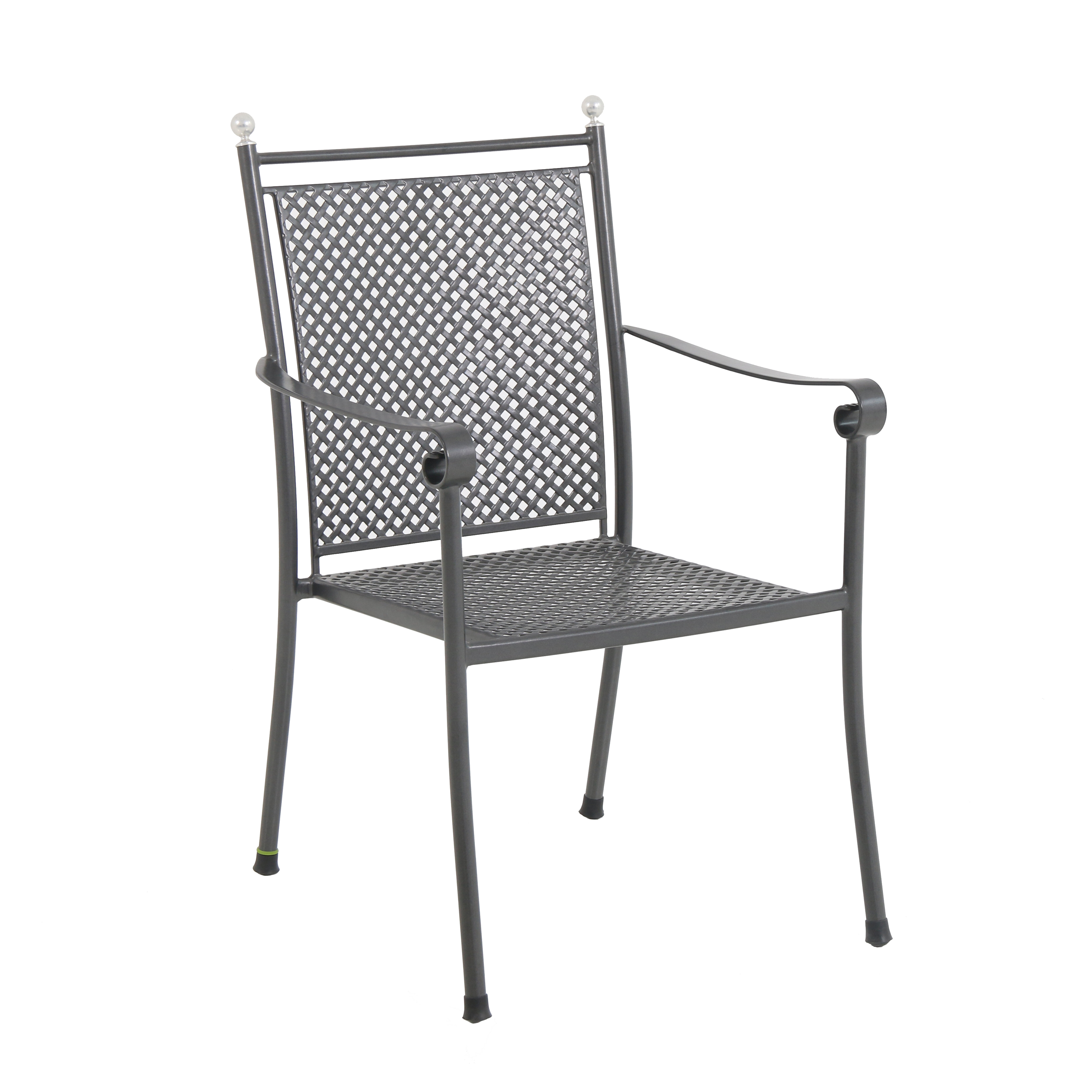 Canora Grey Atwater Steel Mesh Stacking Patio Dining Chair Wayfair