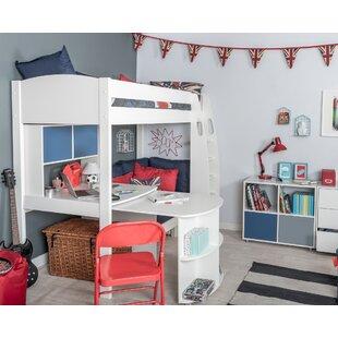 Deals Price Kool European Single (90 X 200cm) High Sleeper Bed With Desk