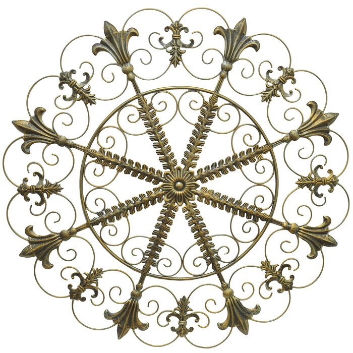 Circular Metal Scroll Wall Decor