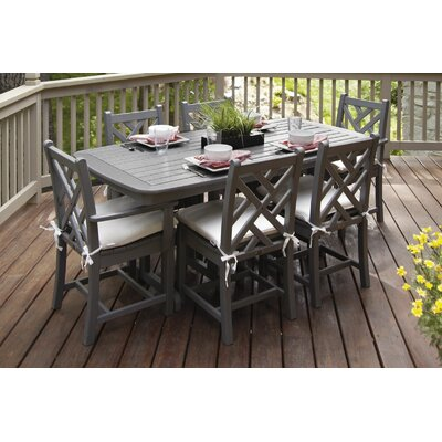 Chippendale 7 Piece Sunbrella Dining Set With Cushions by POLYWOOD® Today Only Sale