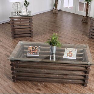 Perrodin Farmhouse 2 Piece Coffee Table Set