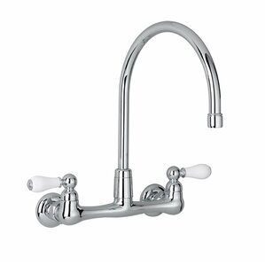 American Standard Heritage Double Handle Wall Mounted Kitchen Faucet