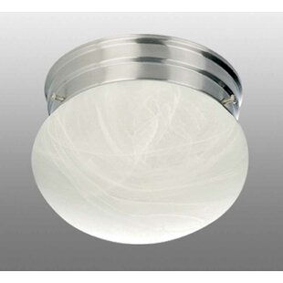 Minster 1-Light Ceiling Fixture Semi Flush Mount by Volume Lighting