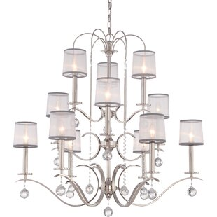 House of Hampton Bellecourt 12-Light Shaded Chandelier