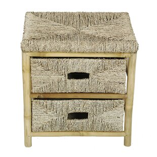 Elmira Bamboo End Table with Storage by Bay Isle Home