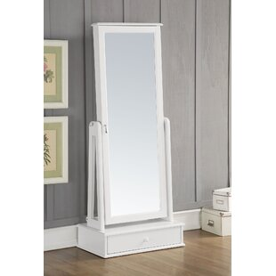 A&J Homes Studio Traci Free standing Jewelry Armoire with Mirror