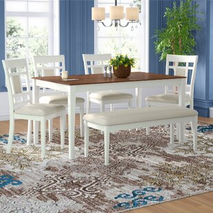 Hillside Avenue 6 Piece Breakfast Nook Dining Set by Alcott Hill