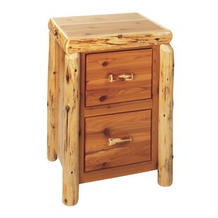 Traditional Cedar Log 2-Drawer Vertical Filing Cabinet