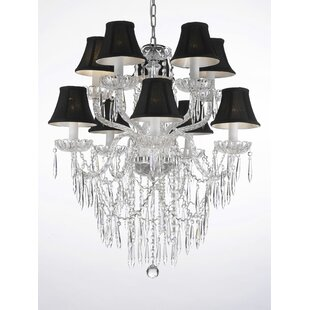 House of Hampton Kiker 10-Light Shaded Chandelier