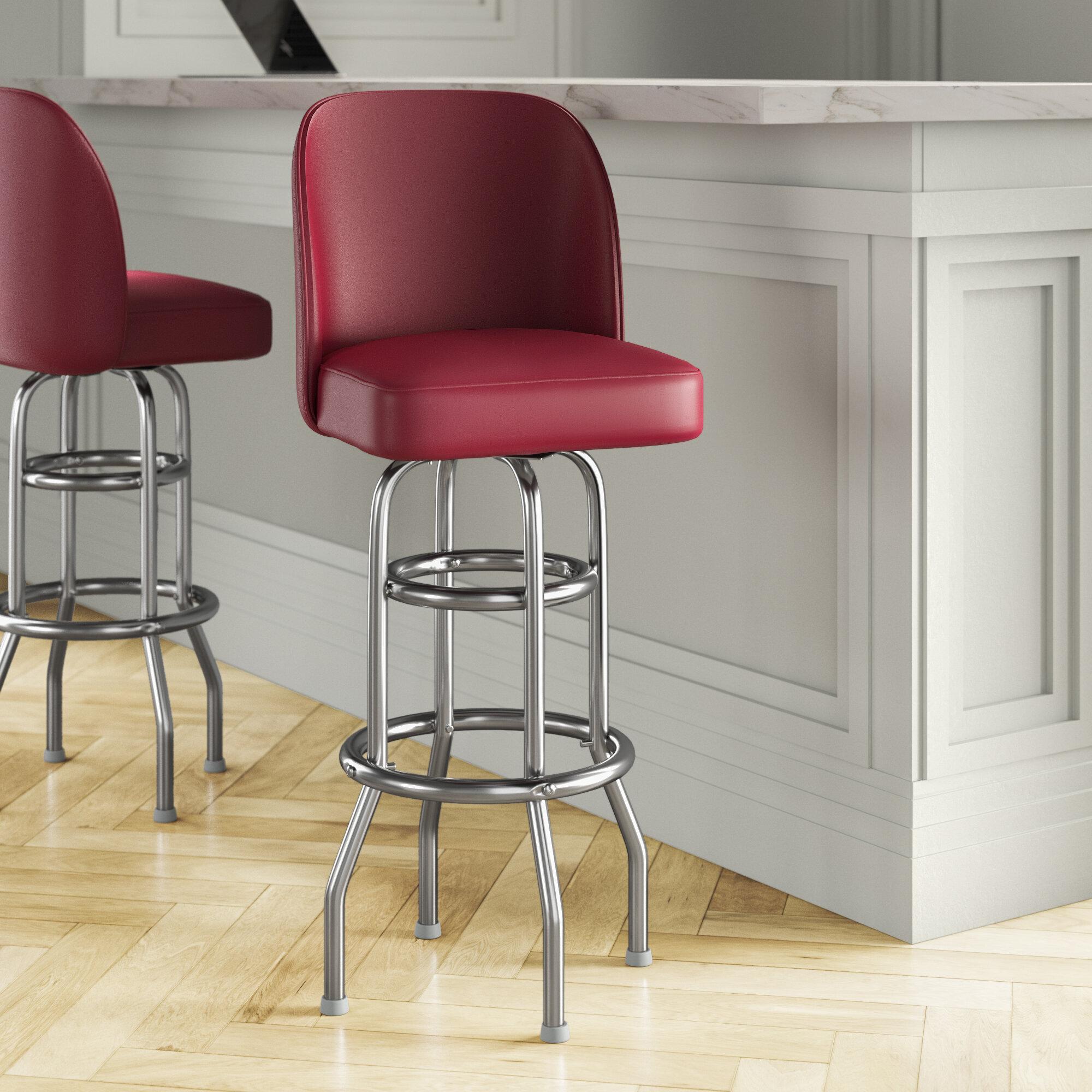 Picture of: Premier Hospitality Furniture 30 Swivel Bar Stool Wayfair