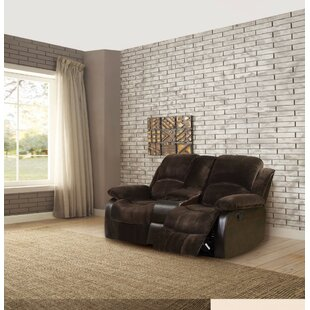 Dickler Elegant Console Reclining Sofa Red Barrel Studio