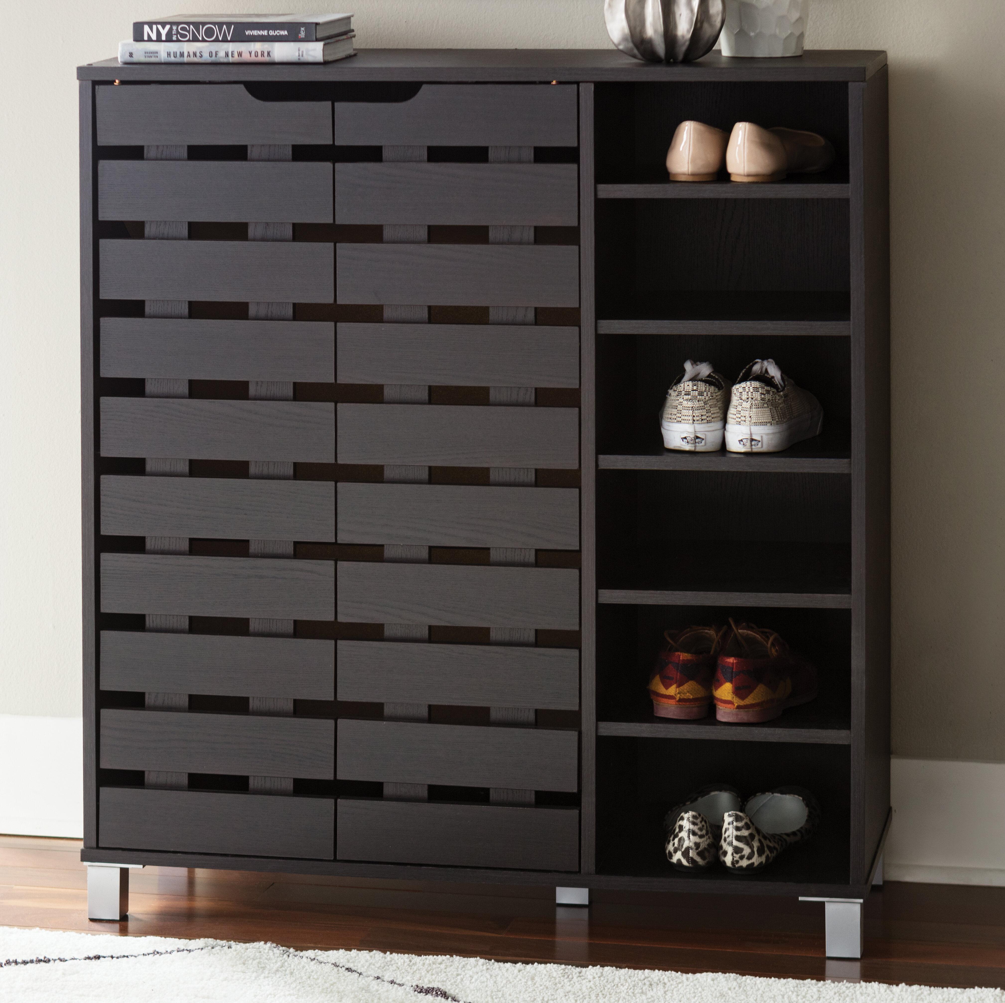 24 Pair Shoe Storage Cabinet