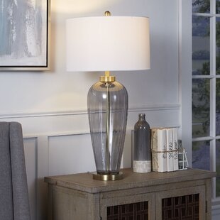 Lanny Tall Urn Glass Table Lamp