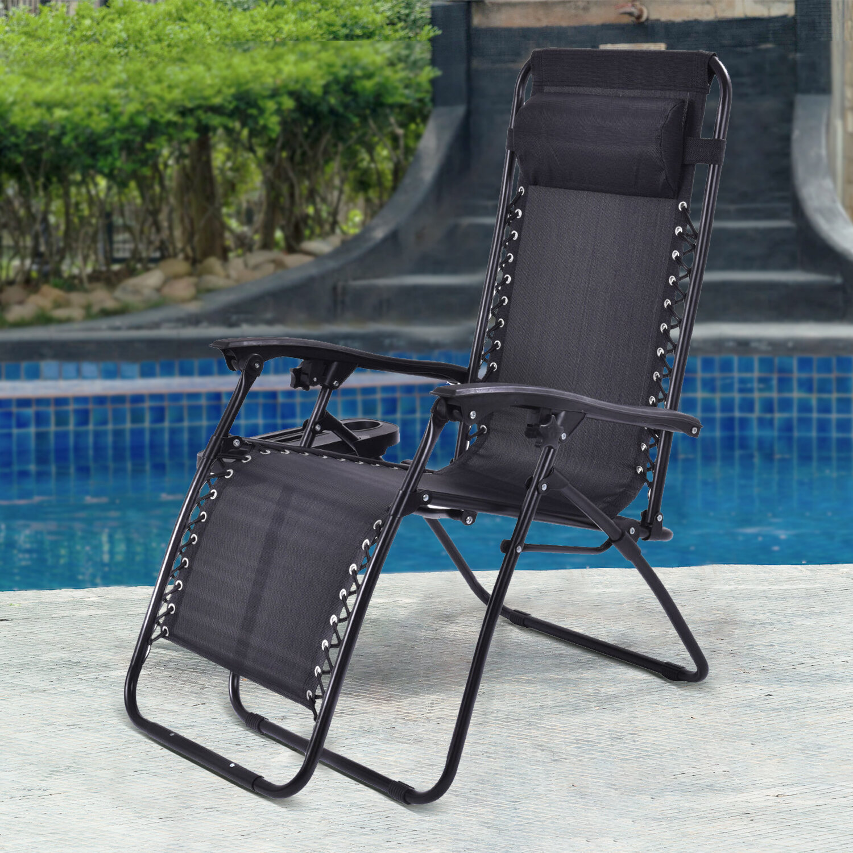 Freeport Park 2 Pcs Folding Lounge Chair With Zero Gravity Wayfair Ca