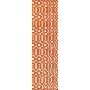 Halliday Orange Indoor/Outdoor Area Rug