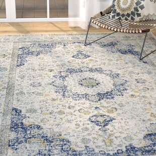 Price comparison Elson Power Loomed Ivory & Blue Area Rug By Mistana