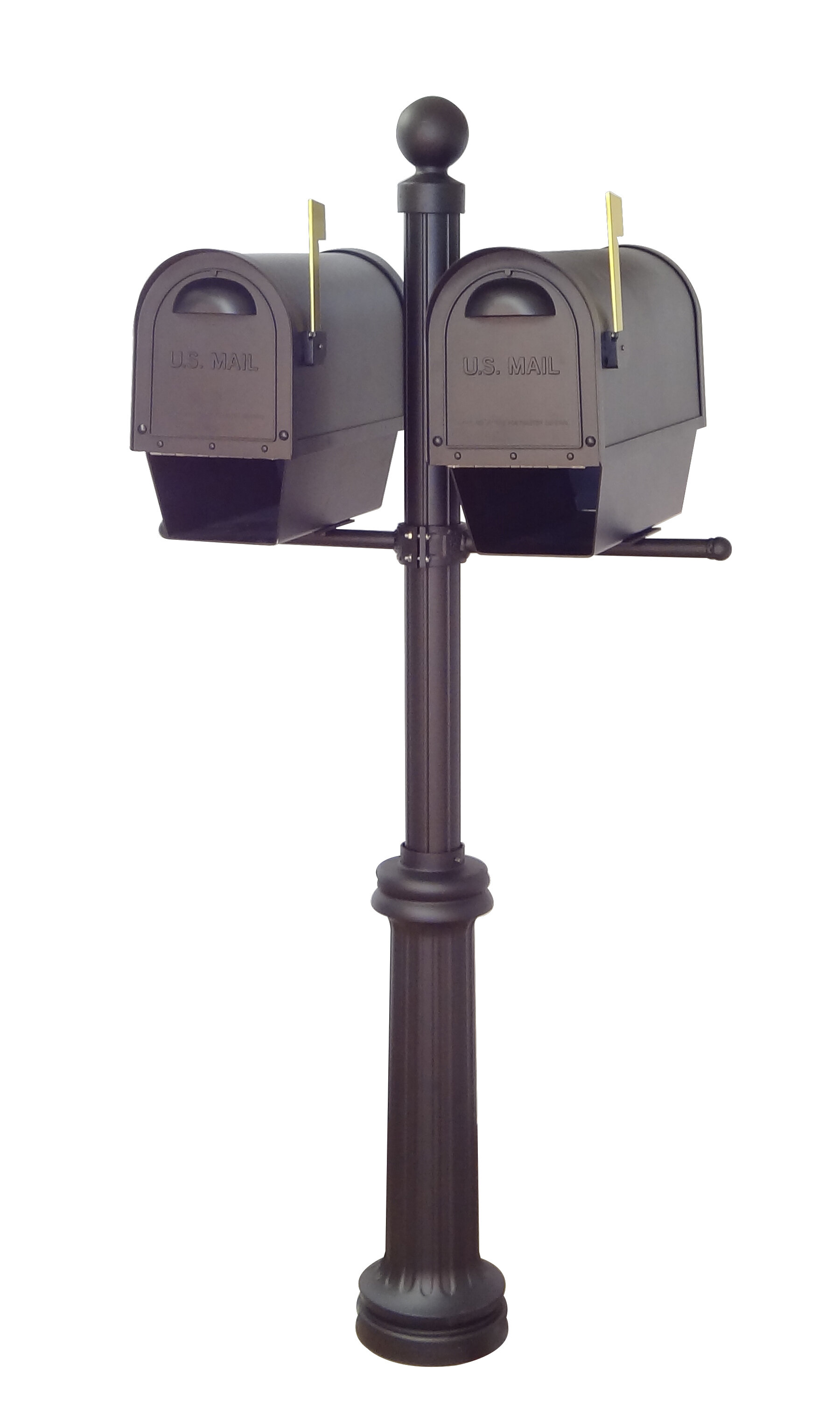Special Lite Products Classic Curbside Locking Mailboxes With Fresno Double Mount Post Included Wayfair