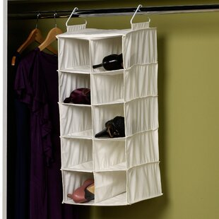 Double Hang 10 Compartment Hanging Shoe Organizer