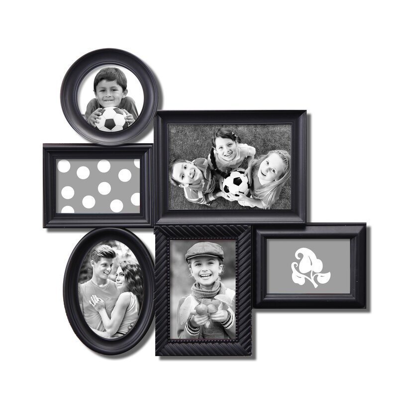 AdecoTrading 6 Opening Decorative Wall Hanging Collage Picture Frame ...