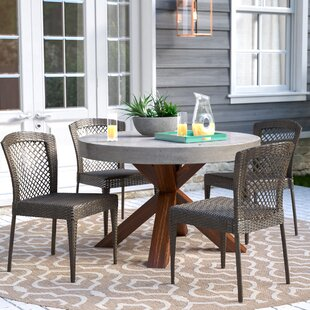 Causey Stacking Patio Dining Chair (Set of 4)