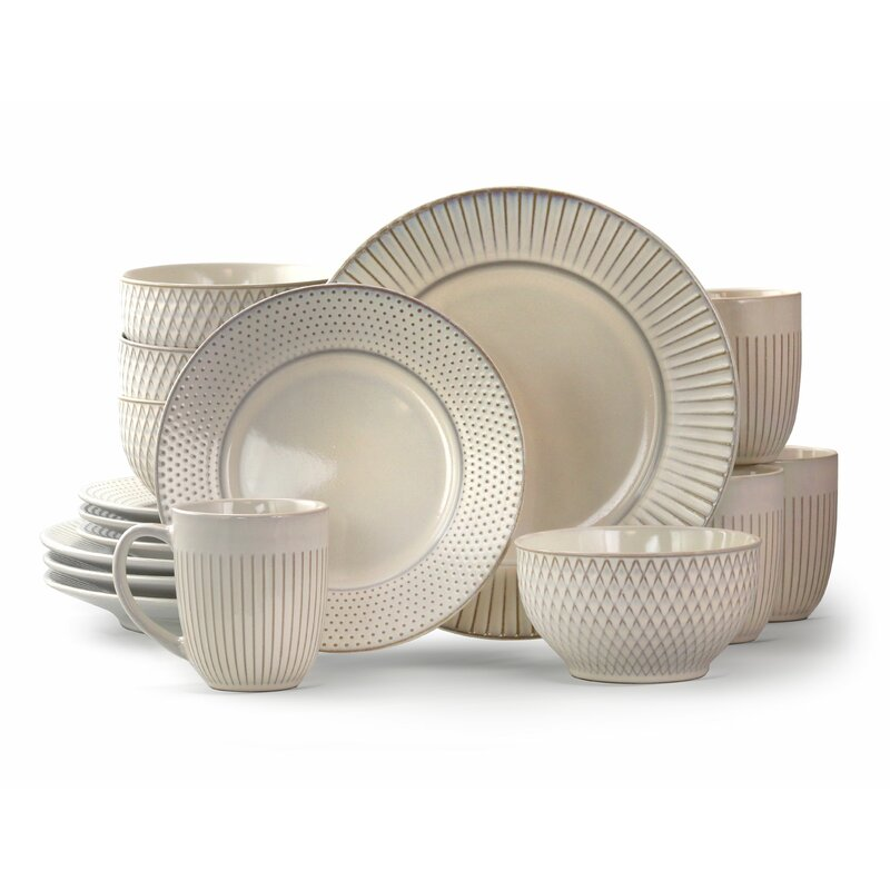 Goodman 16 Piece Dinnerware Set, Service for 4