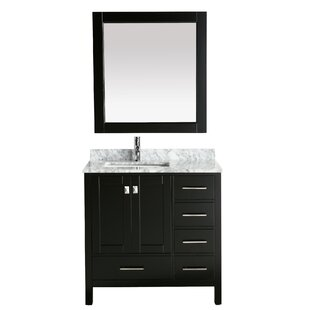 London Hyde 36 Single Bathroom Vanity with Mirror by dCOR design