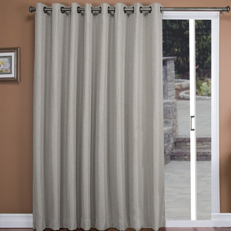 Tacoma Patio Solid Blackout Thermal Grommet Single Curtain Panel